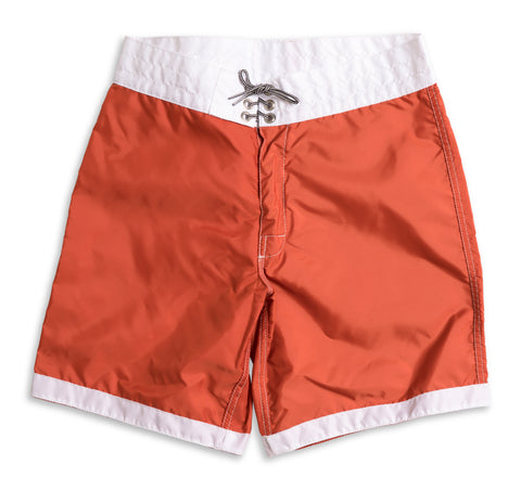 311 Limited-Edition White Tip Board Shorts - Paprika & White