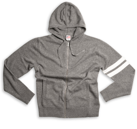 Limited-Edition Hoodie – Grey & White