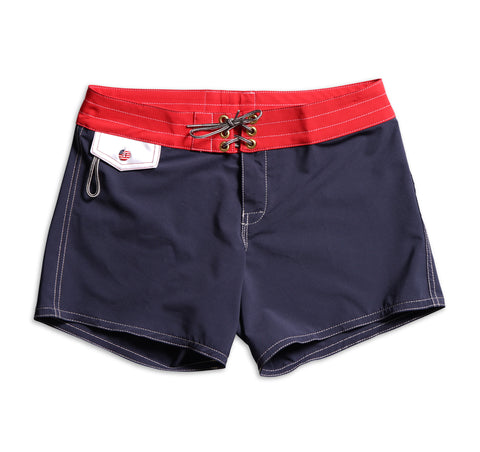 405 Limited-Edition Lady Liberty Board Shorts - Navy & Red