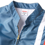 LeMansRacingJacketNewFit_Mens_Outerwear_FedBlueOrangeWhite_up_close_collar