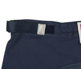 Navy Canvas Tactical Walk Shorts - Waistband