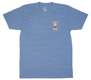 Athletic Blue Tri-Blend Birdwell T-Shirt - Front