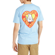 Men's Birdie Heart T-Shirt - Light Blue