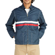 MensCompetitionJacket_MENS_OUTERWEAR_NAVY_RED_MA9001 On Model Front View