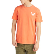 MensShakaTShirt_MENS_T-SHIRT_RUST_MA1030 On Model Front View