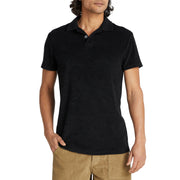 Men's Terry Polo - Black