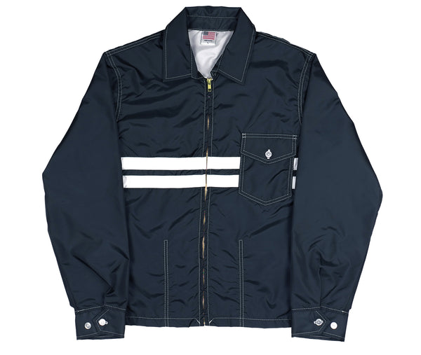 Navy & White SurfNyl Men's Competition Jacket - Front