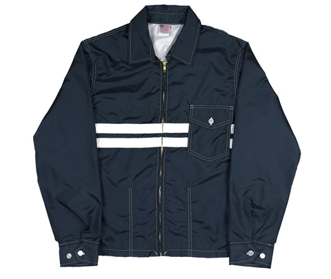 patches-front Navy & White SurfNyl Men's Competition Jacket - Front