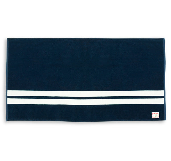 Comp Stripe Beach Towel - Navy & White