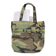 Camo Nylon Tote Back View