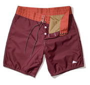 311 Pilgrim Surf + Supply Duotone Board Shorts - Burgundy / Paprika