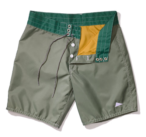 311 Pilgrim Surf + Supply Duotone Board Shorts - Olive / Kelly Green
