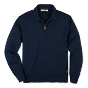 QuarterZipLS_Mens_Tops_Navy_flat_lay_front