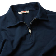 QuarterZipLS_Mens_Tops_Navy_up_close_zipper