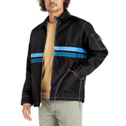 QuiltedCompetitionJacket_Mens_Outerwear_BlackSkyBlueTurquoise_on_model_front