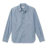 ChambrayWorkShirt_MENS_SHIRT_MA5008 flat lay front view