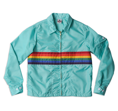 Women's Rainbow Jacket - Aqua