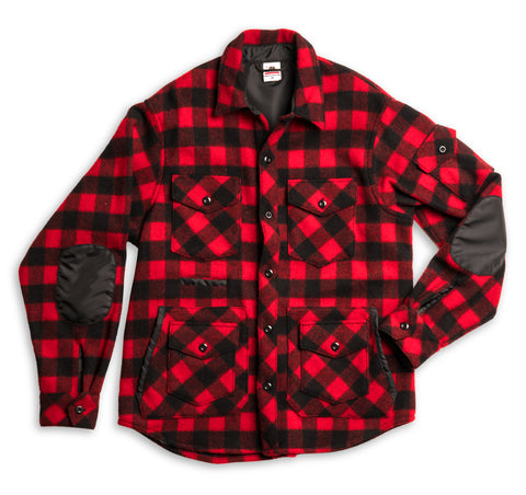 Wool Sportsman Jacket - Red Buffalo Plaid