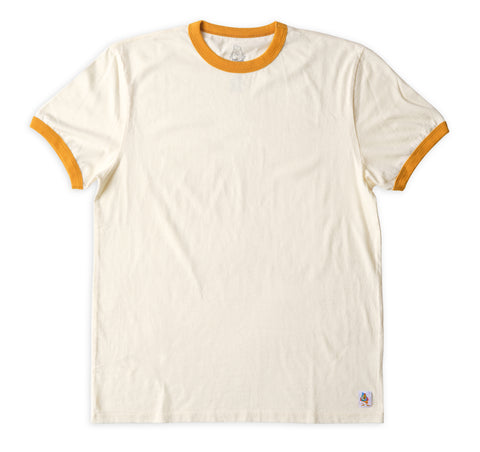 Men's Ringer Tee - Natural & Gold