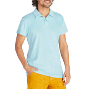 Men's Terry Polo - Light Blue