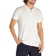 Men's Terry Polo - White