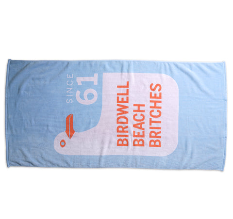Seagull Beach Towel - Light Blue
