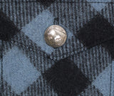 Dull Sky Buffalo Plaid Wool Sportsman Jacket - Pocket Button Detail