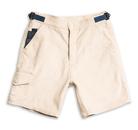 Corduroy Tactical Walk Shorts - Stone