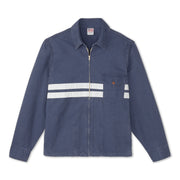 Men's Stone-Washed Canvas Jacket - Navy & White
