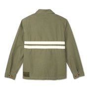 Men's Stone-Washed Canvas Jacket - Olive & Natural