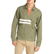 StoneWashedCompJacket_MENS_OUTERWEAR_OLIVE_MA9003 On Model Front View