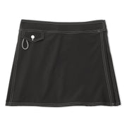 SurfStretchWrap_WOMENS_BOARDSHORTS-CLASSIC_BLACK_WA3406 Flat Lay Front View