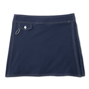 SurfStretchWrap_WOMENS_BOARDSHORTS-CLASSIC_NAVY_WA3406 Flat Lay Front View