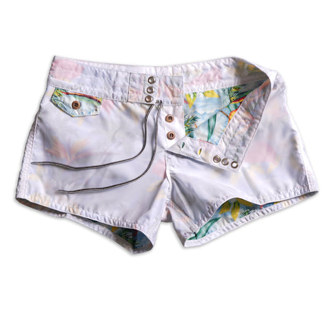402 Limited-Edition Paradise Board Shorts - White