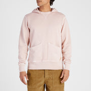 Cayucos Pullover Hoodie - Blush On Model Front