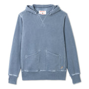 Cayucos Pullover Hoodie - Indigo Lay Flat front