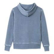 Cayucos Pullover Hoodie - Indigo Lay Flat Back