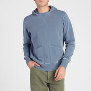 Cayucos Pullover Hoodie - Indigo On Model front