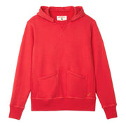 Cayucos Pullover Hoodie - Red Lay Flat Front