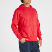 Cayucos Pullover Hoodie - Red On Model Front