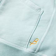 Cayucos Pullover Hoodie - Seafoam Up Close Logo