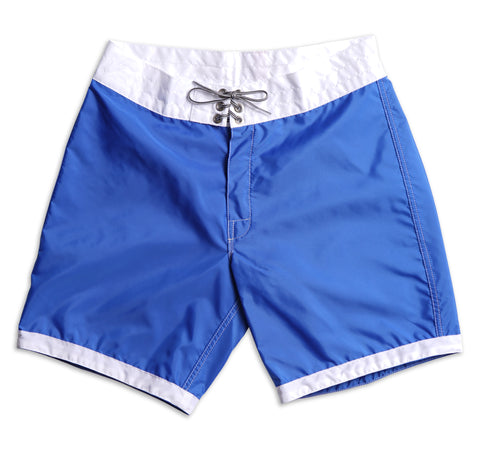 311 Limited-Edition White Tip Board Shorts - Royal & White