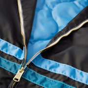 QuiltedCompetitionJacket_Mens_Outerwear_BlackSkyBlueTurquoise_up_close_zipper