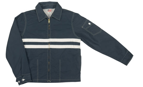 patches-front Women's Navy & White SurfNyl Competition Jacket - Front