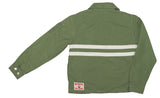 Women's Olive & White SurfNyl Competition Jacket - Back