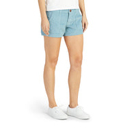 Women's Corduroy Shorts - Light Blue