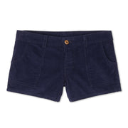 WomensCorduroyShorts_WOMENS_SHORTS_NAVY_WA4001 flat lay front view