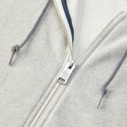 WomensHoodedZipFrontSweatshirt_WOMENS_OUTERWEAR_HEATHERGREY_WA6001 Close Up Zipper Detail