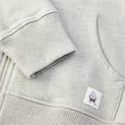 WomensHoodedZipFrontSweatshirt_WOMENS_OUTERWEAR_HEATHERGREY_WA6001 Close Up Stitching Detail