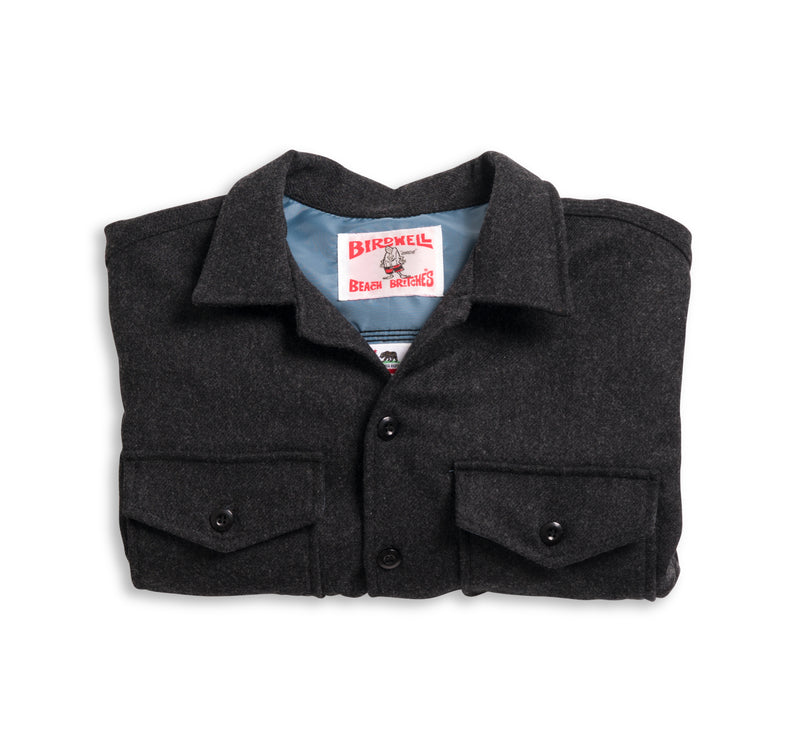 Wool CPO Shirt - Dark Grey & Federal Blue